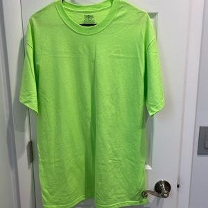 Bright lime green tshirt, never worn